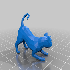 Cat.png Download free STL file Low poly Cat • 3D print template, diego_66