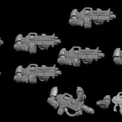 all-bois-weapons.jpg Download STL file heavy guns for eradication and heavy BOIS • Design to 3D print, marta_PunkGirl