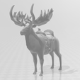 GiantElk.png Download STL file Giant Elk / Irish Elk Miniature (with and without base) • Template to 3D print, ethansweitzer