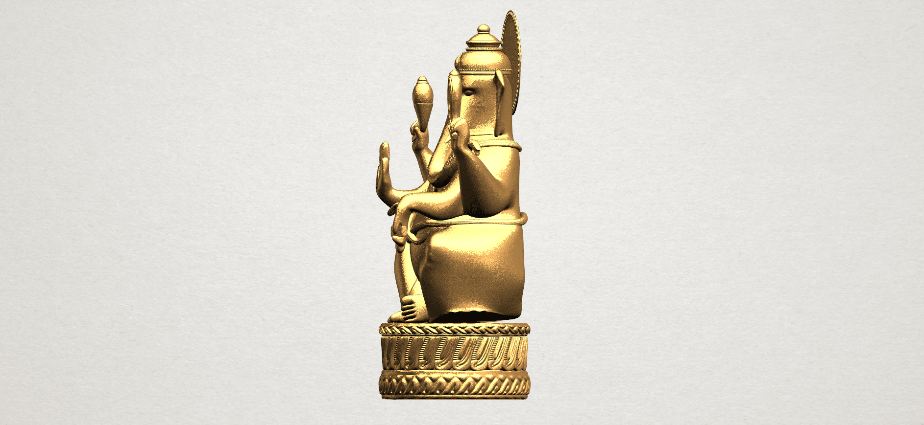 Ganesha A03.png Download free STL file Ganesha 01 • 3D printing template, GeorgesNikkei