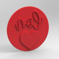 untitled.297.jpg Download STL file CON AMOR WITH LOVE STAMP • 3D printable object, 3DDesignFactory