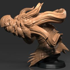 D.438.jpg Download free OBJ file Dragon Head 04 • 3D printing object, Dynastinae
