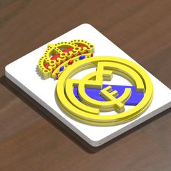 3.jpg Download STL file Real Madrid shield to print and assemble • 3D printer model, nes379