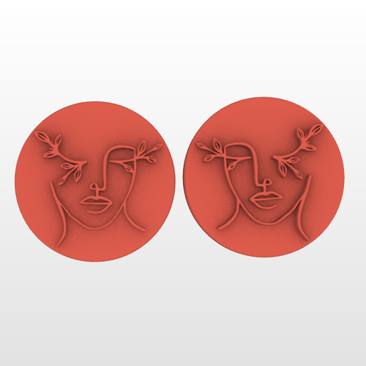 Screenshot_6.png Download STL file STAMP FOR POLYMER CLAY PRINTED IN 3D-3D PRINTED POLYMER CLAY STAMP- SILHOUETTES OF FEMALE FACES-LORREN3D • 3D printing design, lorren3d