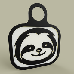 c672bca3-3452-4ecc-8a7a-40e31c7b46f8.PNG Download free STL file Lol - Sloth - KeyChain 1 • 3D printer object, yb__magiic