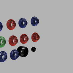 button cover render 1.png Download STL file BUTTON COVER AMG STYLE SET2 25MM • 3D printer object, Simracing_design