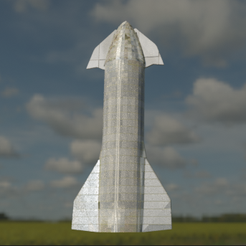 starship1.PNG Download free STL file starship mk4 • 3D printable object, Space3D