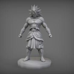 render1.jpg Télécharger fichier STL Broly Dragon Ball Z • Plan pour impression 3D, D_INOX