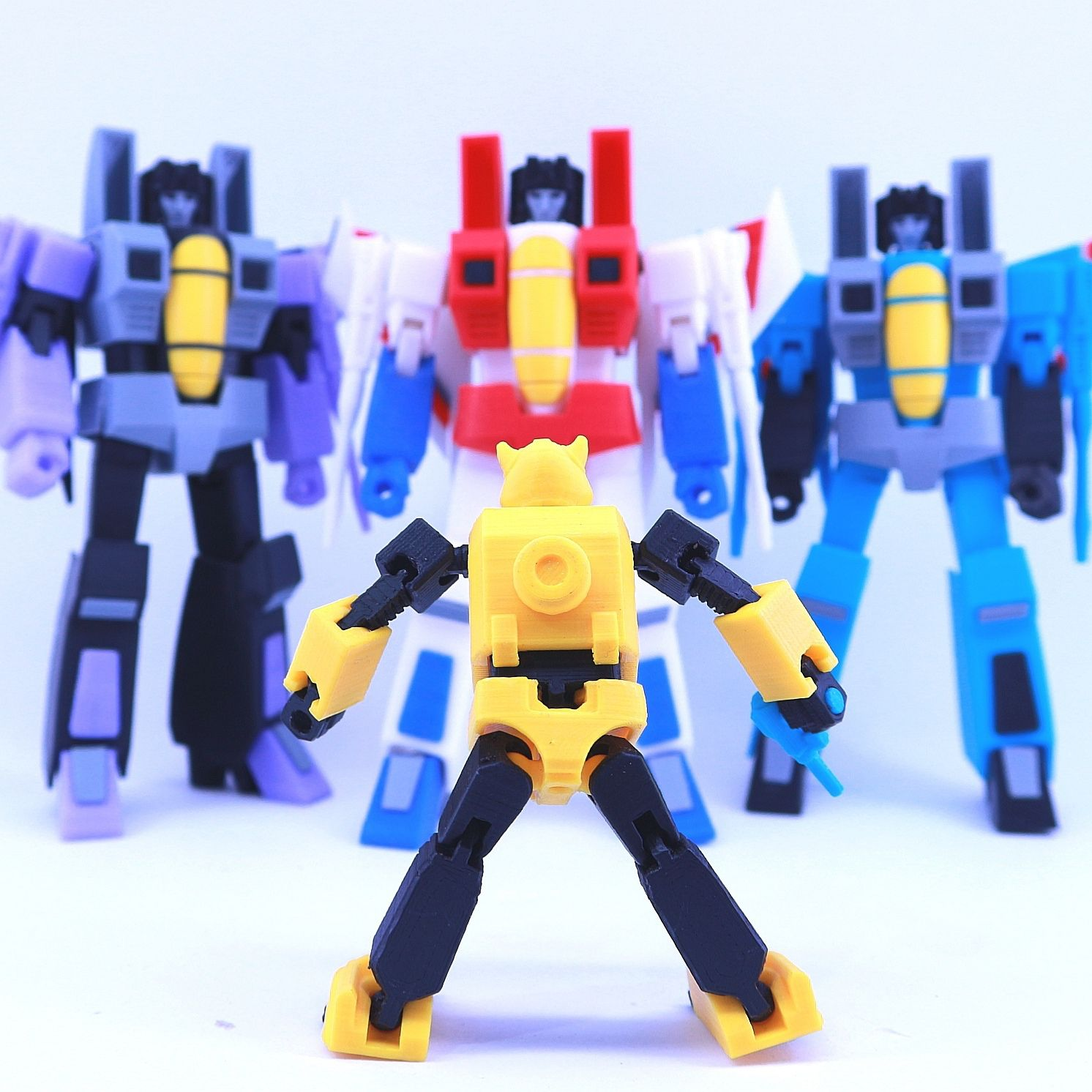 bee9.jpg Download free STL file ARTICULATED G1 TRANSFORMERS BUMBLEBEE - NO SUPPORT • 3D print template, Toymakr3D