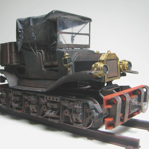 VintageRailcar_WithCanopy04.jpg Download free STL file Vintage Railcar - 36mm gauge • 3D printing object, BouncyMonkey