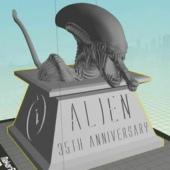 AL35.jpg Download free STL file Alien 35th Anniversary Bust • 3D printable template, Geoffro