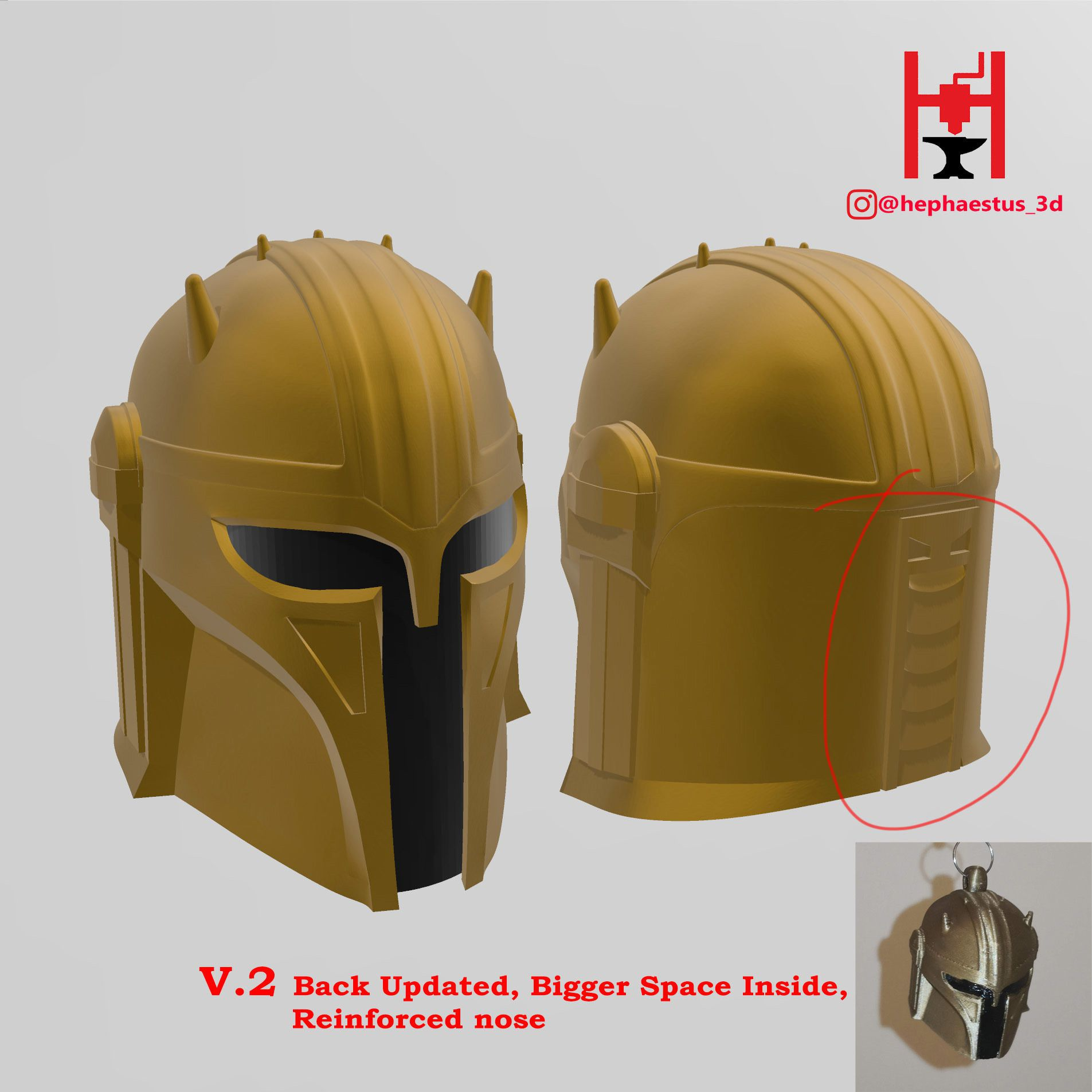 2020-06-21 (13).jpg Download STL file Star Wars Mandalorian Armorer (Blacksmith) Helmet • 3D printer template, Hephaestus3D