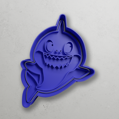 push-diseño.png Download STL file Papa baby shark shark • 3D print template, escuderolu
