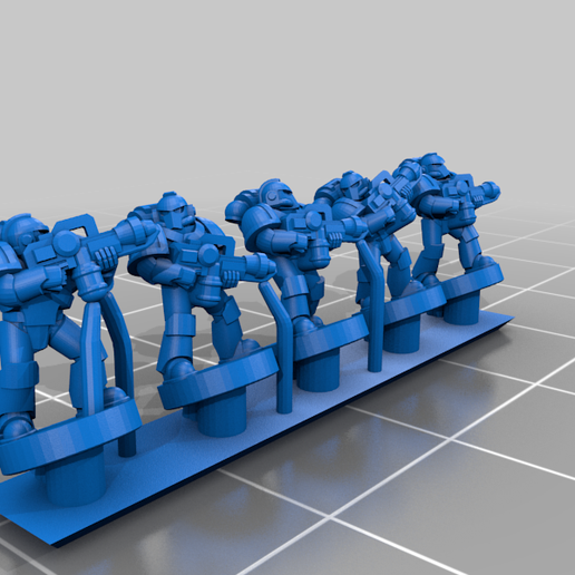 PlateArmour_Flamethrower.png Download free STL file Galactic Crusaders - Special Weapons - 6-8mm • 3D printable template, MoonJammy