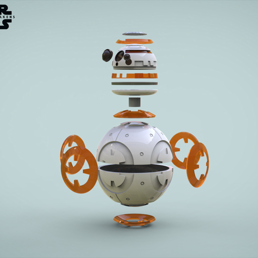 bb8-parts.png Download free STL file BB8 Droid - Star Wars: The Force Awakens  • Template to 3D print, Maxter
