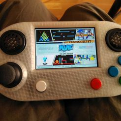 foto2.jpeg Download STL file Waveshare Game Hat Hand Held Console Case • Object to 3D print, bartologordito