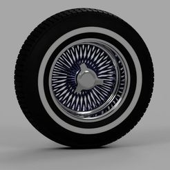 lowrider_felge_2021-Sep-23_06-10-41PM-000_CustomizedView2577811675sdfg.jpg Télécharger fichier STL Lowrider wire wheel 1/18 scale 1 to 18 avec pneu neuf • Plan pour impression 3D, pearce