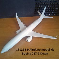 131214-9 Model kit Boeing 737-9 Down Photo 01wm.jpg Download STL file 131214-9 Boeing 737-9 MAX Down • 3D printing design, sandman_d