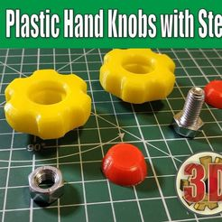 1a7673ecc2974a024b65b7f0ab7ba70f_display_large.jpg Download free STL file Plastic Hand Knobs with Steel Screws • 3D printing template, alexlpr