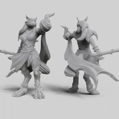 preview2_thingiverse.jpg Download free STL file Werewolf Hybrid Form Sorceress • Template to 3D print, GloomyKid