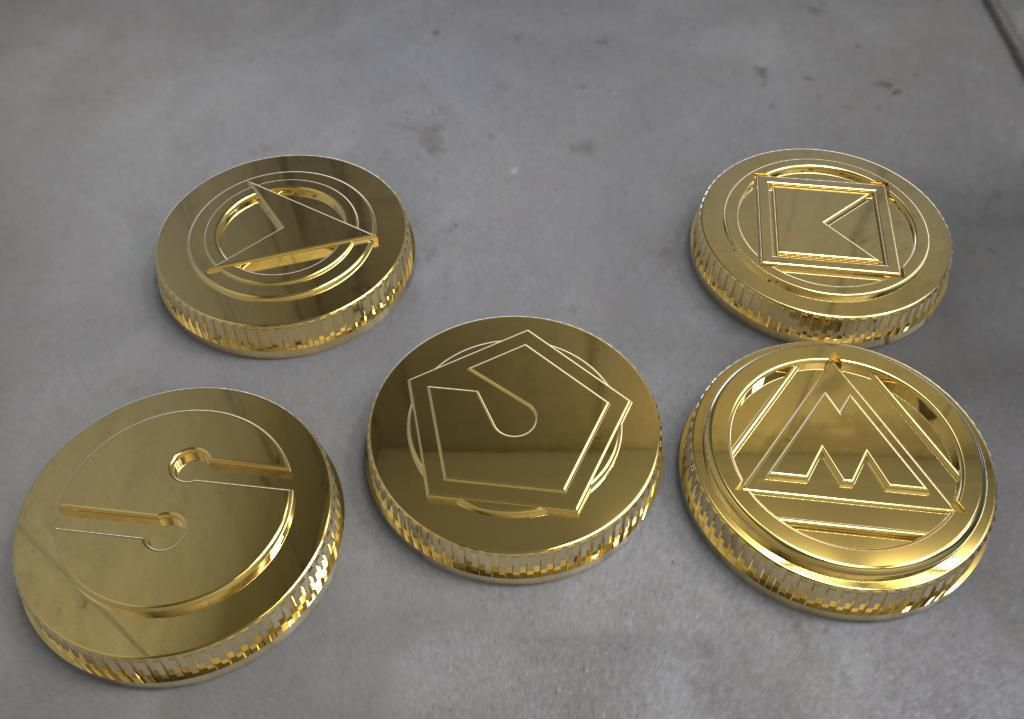 alien rangers power coins.jpg Télécharger fichier STL Alien rangers power coins power coins modèle d'impression 3D • Design pour impression 3D, MLBdesign