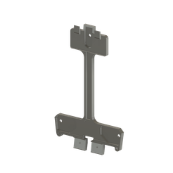 W65-montageplaat_3D1.png Download free STL file W65-Wall Mounting Plate • 3D printable model, fgeer
