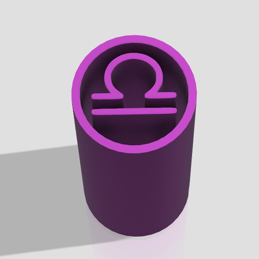 libra.png Download STL file Filter Tips - Pack Horoscope   (Boquillas reutilizables) Filtros weed • Object to 3D print, Weed420House