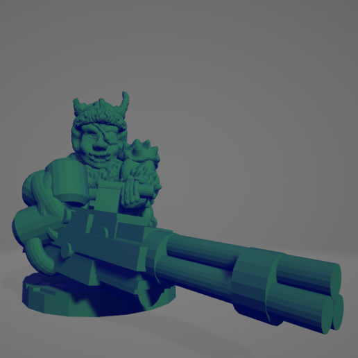 Space Orc Minigun.png Download STL file Cyber-Orquindi With Minigun • Object to 3D print, Ellie_Valkyrie