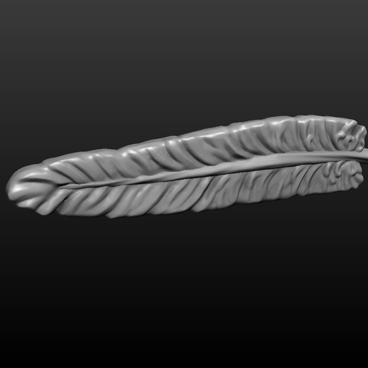 feather-008.png Download 3DS file Feather 3 • Template to 3D print, Skazok