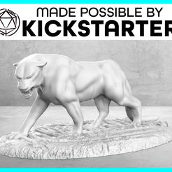 Panther_Action_Ad_Graphic-01.jpg Download free STL file Panther - Action Pose - Tabletop Miniature • Template to 3D print, M3DM