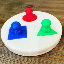 Real Shape Sorting Toy.jpg Download STL file 4 Piece Shape Sorting Toy • Design to 3D print, smart0586