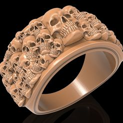 1.jpg Download free STL file Skull ring skeleton ring jewelry 3D print model • 3D print object, Cadagency