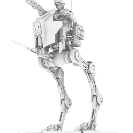 8.jpg Download STL file REBEL AT-RT WALKER, LEGION SCALE, STAR WARS, RPG, UNPAINTED, ROLE PLAYING, D&D • Template to 3D print, LANARDARNA