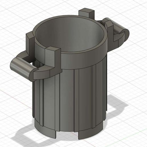 one_file.jpg Download free STL file Small Trash Can (Lego look like) • 3D printer template, GedeonLab