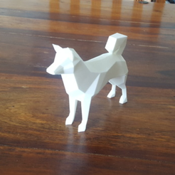 Capture d'écran 2018-07-26 à 14.32.58.png Download free STL file Low Poly Doge • 3D printable template, mattias_selin