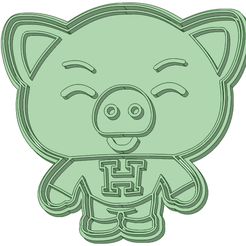 H_e.png Download STL file Hoggie Plim Plim cookie cutter • 3D printing template, osval74