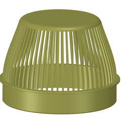 rainwater_outlet_grill_100x75_ver01-00.png Download OBJ file Rainwater Outlet Grill 100 mm for protection trap 3d-print • 3D printing object, Dzusto