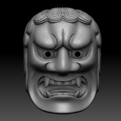 a.jpg Download STL file FUDO NOH MASK • 3D print object, El_Chinchimoye