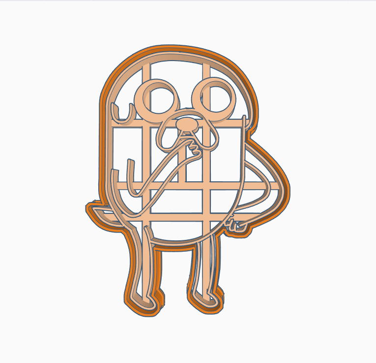 SERR.png Download STL file JAKE THE DOG 3 COOKIE CUTTER ADVENTURE TIME • 3D printable model, SinTiempoLibre