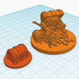 treasure2.png Download free STL file Treasure Chests 25mm scale miniature Dungeons & Dragons • 3D printer model, CaptainRob