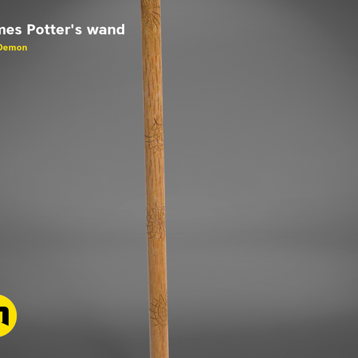 FLITWICK_WAND-detail2.525.png Download STL file James Potter's Wand • Template to 3D print, 3D-mon