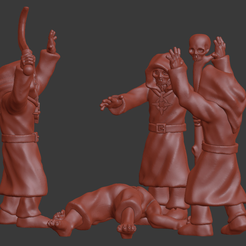Magus_conclave_v1.png Download STL file Blood Mages / Magus Conclave Miniatures • 3D printable template, Ilhadiel