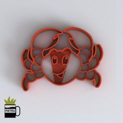cults 6.jpg Download STL file CRAB FONDANT CUTTING MOULD 3D PRINT MODEL • 3D printer design, Gustavo015