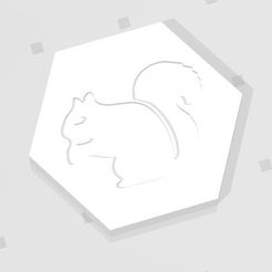 D2 - Squirrel.jpg Download STL file D2 Squirrel Symbol Logo • 3D print model, verasartsanddice