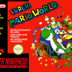 Super_Mario_World.png Télécharger fichier STL gratuit LITHOPHANE Cover Super Mario World SNES Nintendo • Modèle imprimable en 3D, RustyVince