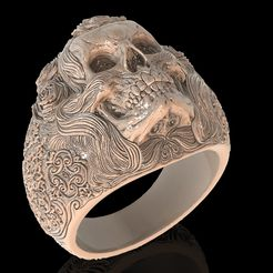 1.jpg Download free STL file Skull ring jewelry skeleton ring 3D print model • 3D print object, Cadagency