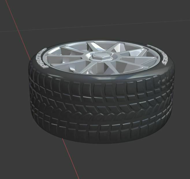 q2.JPG Download STL file CVT Style wheel set for diecast and RC model 1/43 1/24 1/18 1/10.... • 3D print object, BlackBox