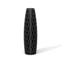 TOWERS-02-FRONT-BLACK.JPG Download STL file TOWERS VASE 02 • Design to 3D print, martin_zampach