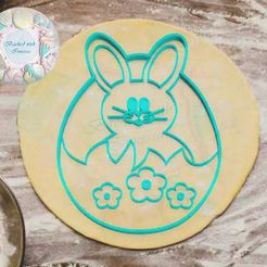 1111.jpg Download free STL file Easter bunny cookie cutter • Design to 3D print, innessa