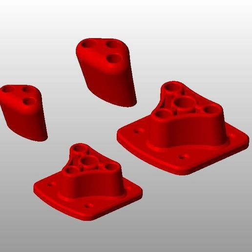 Kit pieds pour 10mm et kit pour 8mm rouge.JPG Download STL file PING & PONG tables • Object to 3D print, MyVx35